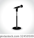 microphone stand icon on white background 32450509