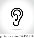 ear icon on white background 32450516