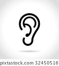 ear icon on white background 32450516