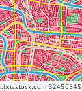 Seamless map unknown city. 32456845