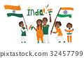 india, flag, people 32457799