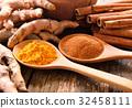 Turmeric and cinnamon powder 32458111