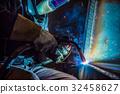 welder steel spark 32458627