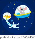 astronaut animal cute 32459457