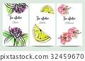 vector, flower, lemon 32459670