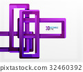 Rectangle tube elements, vector background 32460392