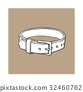 Pet, cat, dog brown leather collar with metal 32460762