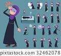 flat type Arab woman_sickness 32462078