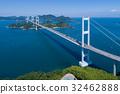 구루 시마 해협 대교 (시마 나미 카이도) 공중 촬영 32462888