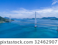 tatara bridge, shimanami sea route, aerial 32462907