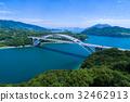 大三島 다리 (시마 나미 카이도) 공중 촬영 32462913
