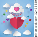heart, balloon, hot 32463480