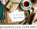 Best Wish Card with Gift Box Background 32463883