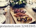 Steak meal grilled food meat 32463945