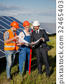 Business client, foreman and worker at solar 32465403