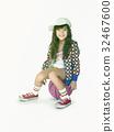 Little Girl Smiling Happiness Basketball Sport Portrait 32467600