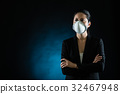 Person wearing protective mask against infectious 32467948