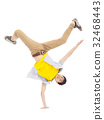 Young man dancing stylish and cool breakdance 32468443