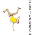 Young  man dancing stylish and cool breakdance 32468444