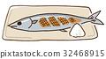 꽁치, 소금구이, 생선 구이 32468915