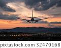 황혼의 도착 항공편 보잉 737 32470168