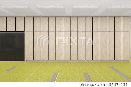 empty modern kitchen area in office corporate, 3d render interio
