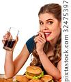 french, fries, hamburger 32475397
