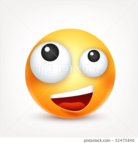 Smiley,emoticon. Yellow face with emotions. Facial 32475840