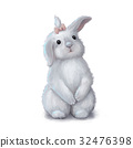 Cute easter bunny rabbit girl 32476398