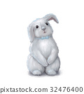 Cute easter bunny rabbit boy 32476400