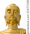 golden bhudda, isolated on white background. 32477346