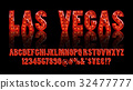 Las Vegas. Color Golden alphabet with show lamps 32477777