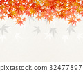 Illustration that feels sum (autumn leaves, Japanese paper) 32477897