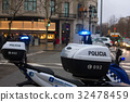Spanish police car standing in the yard, Upper 32478459