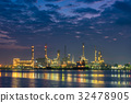 Oil Refinery and Loading dock at Twilight 32478905