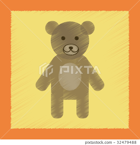 flat shading style icon cartoon bear 32479488