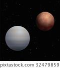 Venus Mars Planets Cosmos Black Background 32479859