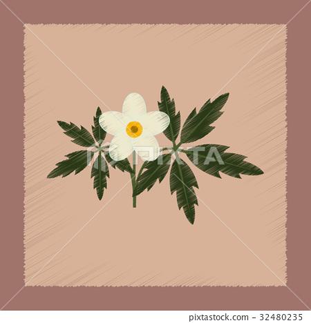 flat shading style icon flower Anemone 32480235