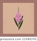 flat shading style icon herbal Chamerion 32480245