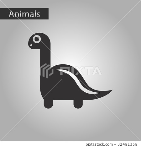 black and white style icon dinosaur 32481358
