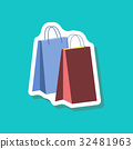 paper sticker fashion clothes paper bags 32481963