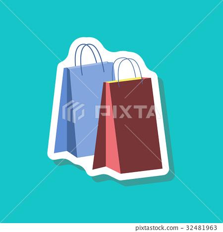 paper sticker fashion clothes paper bags 32481963