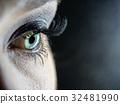 macro eye blue and eyelashes 32481990
