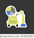 paper sticker on stylish background Automotive 32482067