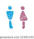 Toilet mark Pict sign 32483193
