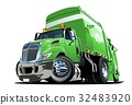 Cartoon Garbage Truck 32483920