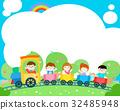 Blank template happy kid poster design vector. 32485948