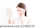 여성 스킨 케어 · 일본 · 아시아 인 32486235