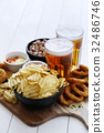 Beer and snacks 32486746