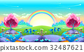 Landscape of dreams with rainbow 32487621